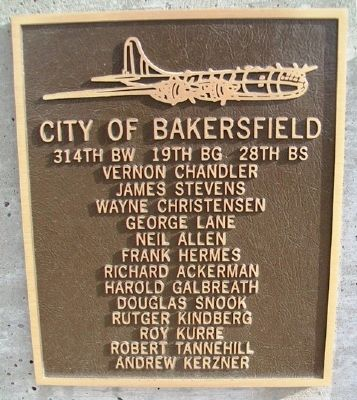 City of Bakersfield Marker image. Click for full size.