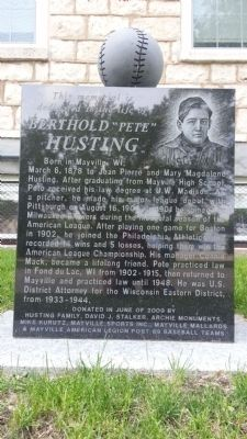 "Berthold ""Pete"" Husting Marker image. Click for full size."