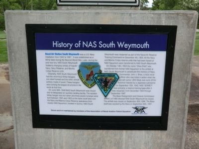 History of NAS South Weymouth Marker image. Click for full size.