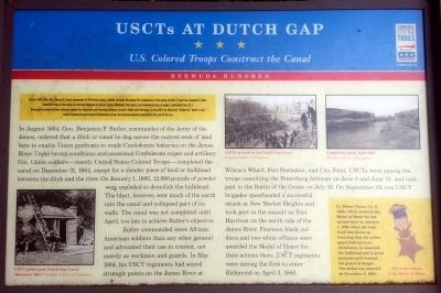 USCTs At Dutch Gap CWT Marker image. Click for full size.