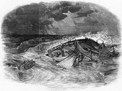 Loss of USS Somers, 8 December 1846 image. Click for full size.