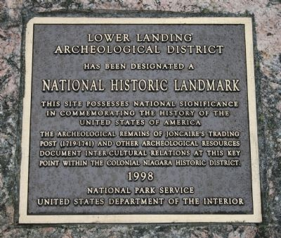 Lower Landing Archeological District Marker image. Click for full size.