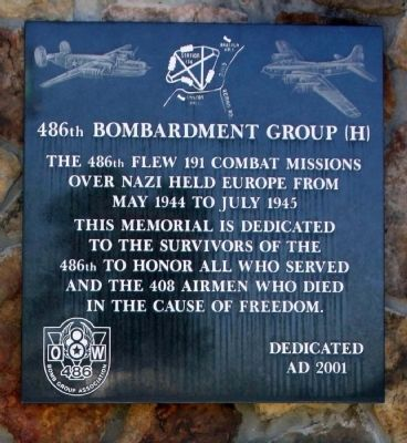 486th Bombardment Group (H) Marker image. Click for full size.