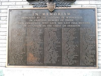 Wyandotte World War II Memorial image. Click for full size.