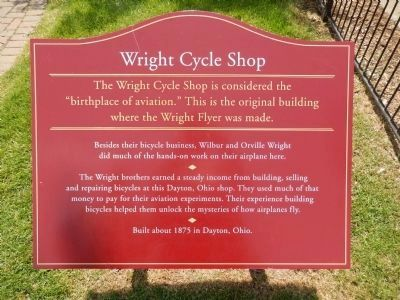Wright Cycle Shop Marker image. Click for full size.