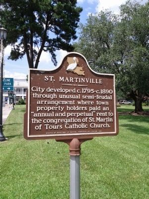 City of St. Martinville Marker image. Click for full size.