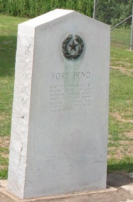 Site of Fort Bend Marker image. Click for full size.