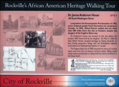 Dr. James Anderson House Marker image. Click for full size.