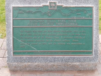 Niagara Falls Park and River Railway Powerhouse Marker image. Click for full size.