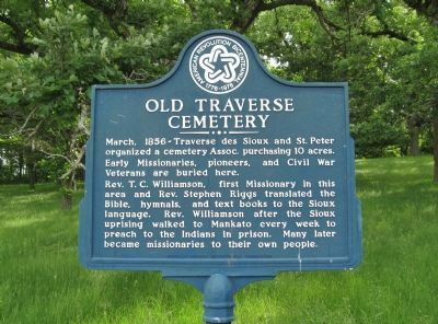 Old Traverse Cemetery Marker image. Click for full size.