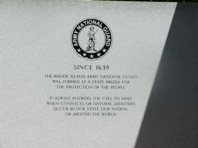 Rhode Island National Guard Marker image. Click for full size.