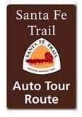 Santa Fe Trail Auto Tour Route Sign Photo, Click for full size