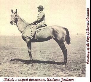 """Belair's expert horseman, Andrew Jackson"" Photo, Click for full size"