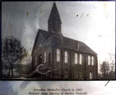 Jerusalem Methodist Church in 1902 image. Click for full size.
