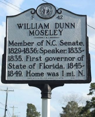 William Dunn Moseley Marker image. Click for full size.