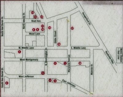 Map -- African American Heritage Walking Tour image. Click for full size.