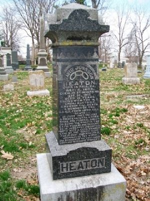 David Johnson Heaton Monument image. Click for full size.