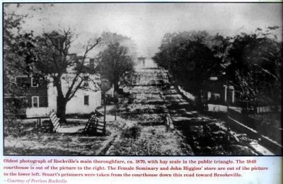 Rockville's main thoroughfare, ca. 1870 Photo, Click for full size