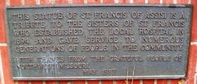 Sisters of St. Francis Marker image. Click for full size.