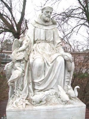 Statue of St. Francis at Sisters Memorial image. Click for full size.