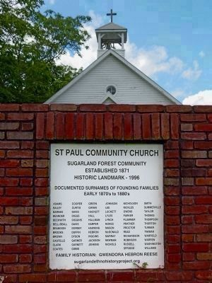 St. Paul Community Church Sign image. Click for full size.
