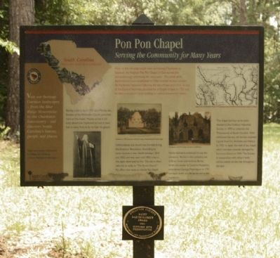 Pon Pon Chapel Marker and Medallion: image. Click for full size.
