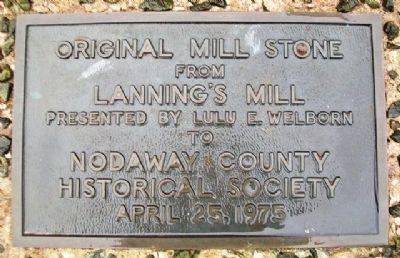 Lanning's Mill Stone Marker image. Click for full size.