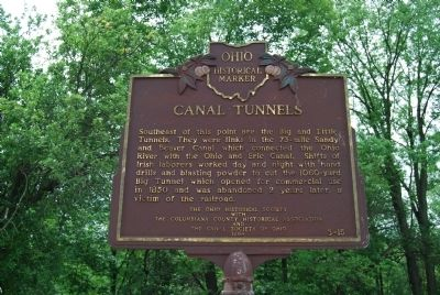 Canal Tunnels Marker image. Click for full size.