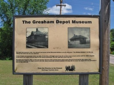 The Gresham Depot Museum Marker image. Click for full size.