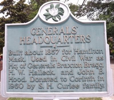 Generals' Headquarters Marker image. Click for full size.