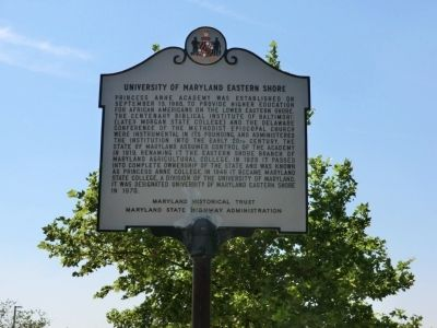 University of Maryland Eastern Shore Marker image. Click for full size.