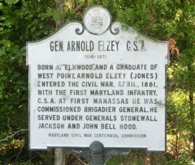 Gen. Arnold Elzey C.S.A. Marker image. Click for full size.