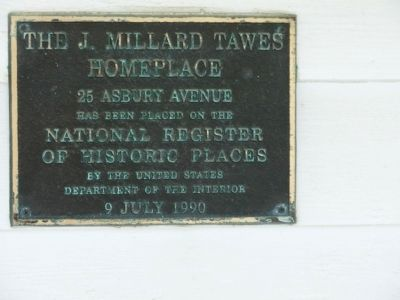 The J. Millard Tawes Homeplace Marker image. Click for full size.