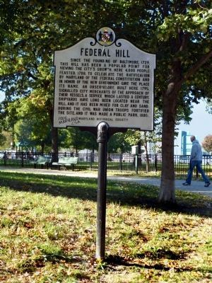 Federal Hill Marker image. Click for full size.