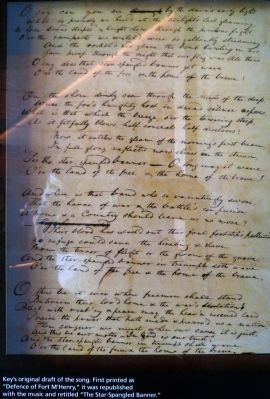 Key's Manuscript of the Star Spangled Banner image. Click for full size.