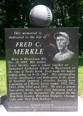 Fred C. Merkle Marker image. Click for full size.