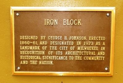 Iron Block Marker image. Click for full size.