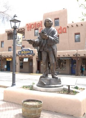 Padre Antonio Jos� Mart�nez Statue and Marker image. Click for full size.