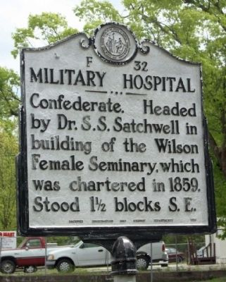 Military Hospital Marker image. Click for full size.