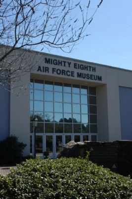 Control Tower Marker located at the Mighty Eighth Air Force Museum image. Click for full size.