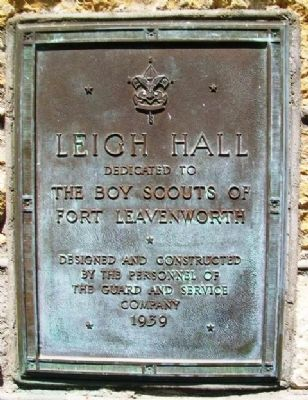 Leigh Hall Marker image. Click for full size.