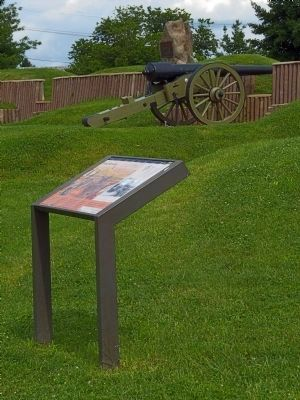 Fort Stevens Marker (replacement) image. Click for full size.