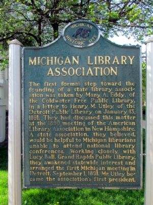 Michigan Library Association Marker image. Click for full size.