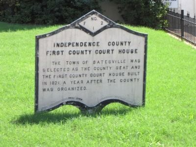 Independence County First County Court House Marker image. Click for full size.