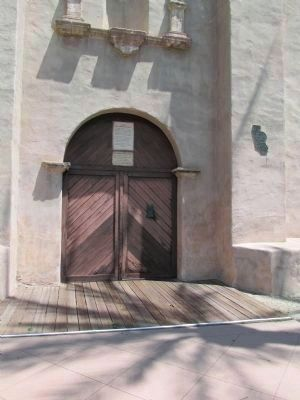 The El Camino Real Door and Markers image. Click for full size.