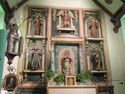 Mission San Gabriel Chapel Altar image. Click for full size.