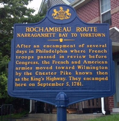 Rochambeau Route Marker image. Click for full size.