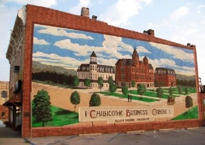 Chillicothe Business College Mural and Marker image. Click for full size.