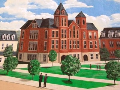 Chillicothe Business College Mural Detail image. Click for full size.