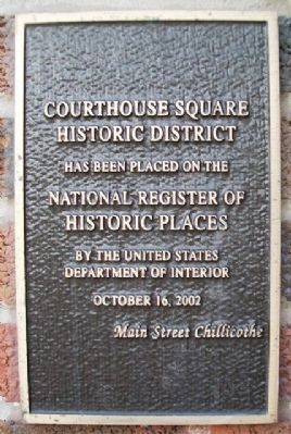 Chillicothe City Hall NRHP Marker image. Click for full size.